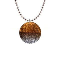 Glitter Gold 1  Button Necklace
