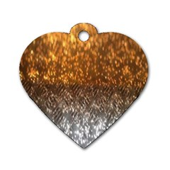 Glitter Gold Dog Tag Heart (one Side)