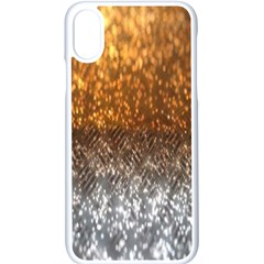 Glitter Gold Iphone X Seamless Case (white)