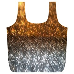 Glitter Gold Full Print Recycle Bag (xxl)
