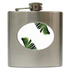 Banana Leaves Hip Flask (6 Oz) by goljakoff
