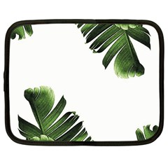 Banana Leaves Netbook Case (large) by goljakoff