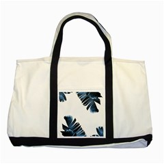 Blue Banana Leaves Two Tone Tote Bag by goljakoff