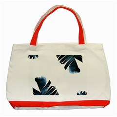 Blue Banana Leaves Classic Tote Bag (red) by goljakoff
