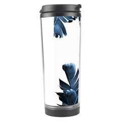 Blue Banana Leaves Travel Tumbler by goljakoff