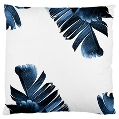 Blue Banana Leaves Standard Flano Cushion Case (two Sides) by goljakoff