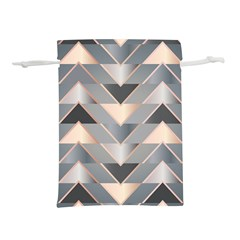 Modern Triangles Lightweight Drawstring Pouch (l) by LoolyElzayat