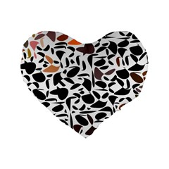 Zappwaits - Words Standard 16  Premium Heart Shape Cushions by zappwaits