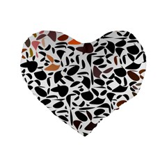 Zappwaits - Words Standard 16  Premium Flano Heart Shape Cushions by zappwaits
