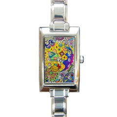 Supersonicplanet2020 Rectangle Italian Charm Watch by chellerayartisans