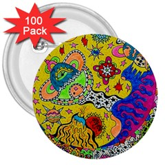 Supersonicplanet2020 3  Buttons (100 Pack)
