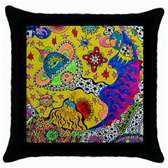 Supersonicplanet2020 Throw Pillow Case (black) by chellerayartisans