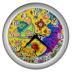 Supersonicplanet2020 Wall Clock (silver) by chellerayartisans