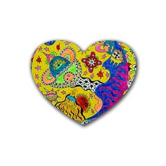 Supersonicplanet2020 Heart Coaster (4 Pack)  by chellerayartisans