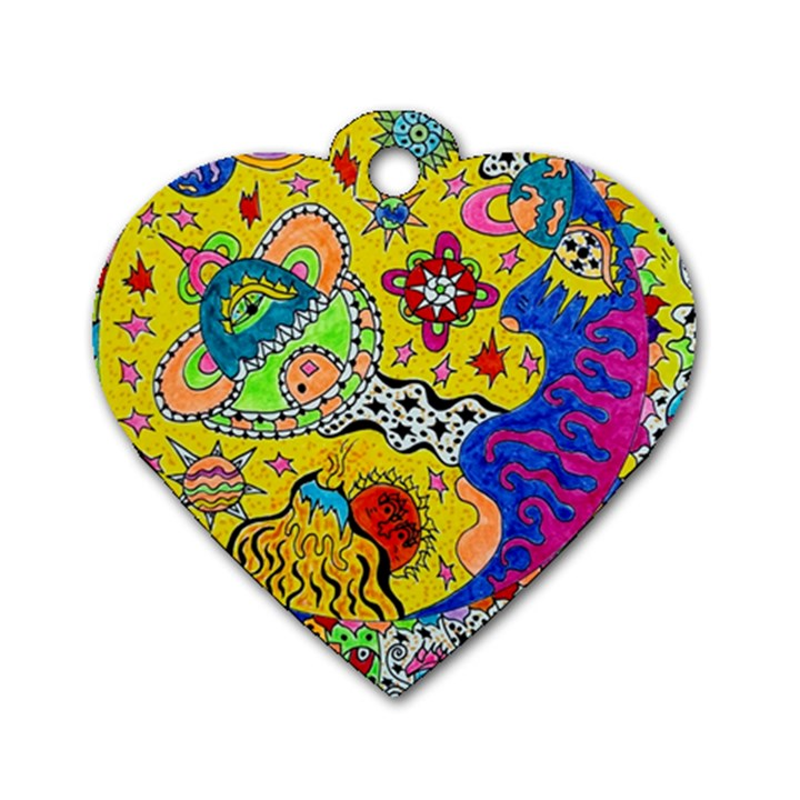 Supersonicplanet2020 Dog Tag Heart (One Side)