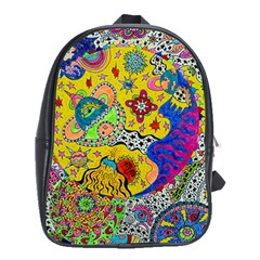 Supersonicplanet2020 School Bag (large) by chellerayartisans