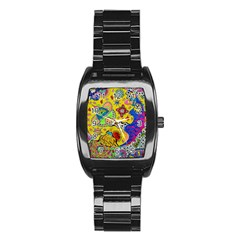 Supersonicplanet2020 Stainless Steel Barrel Watch