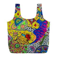 Supersonicplanet2020 Full Print Recycle Bag (l) by chellerayartisans