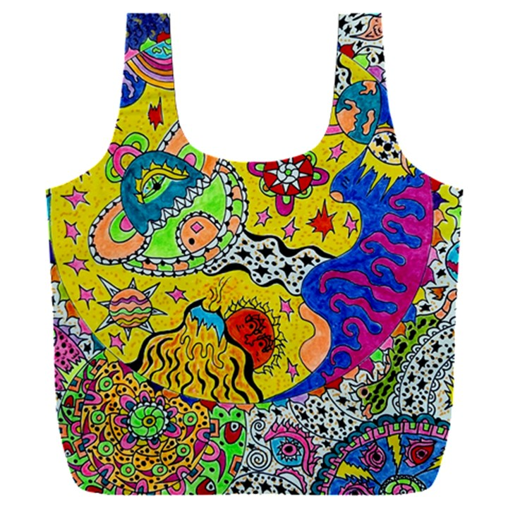 Supersonicplanet2020 Full Print Recycle Bag (XXXL)