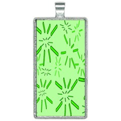Electric Lime Rectangle Necklace