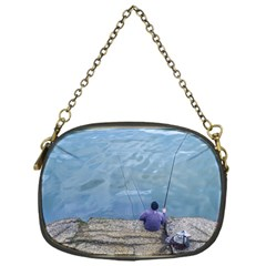 Senior Man Fishing At River, Montevideo, Uruguay001 Chain Purse (one Side) by dflcprintsclothing