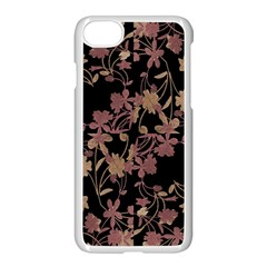 Dark Floral Ornate Print Iphone 8 Seamless Case (white)