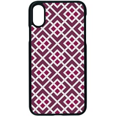 Two Tone Lattice Pattern Purple Iphone Xs Seamless Case (black)