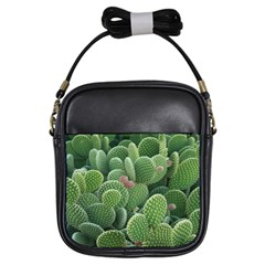 Green Cactus Girls Sling Bag by Sparkle