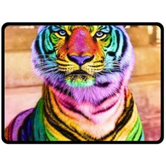 Rainbowtiger Double Sided Fleece Blanket (large)  by Sparkle