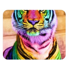 Rainbowtiger Double Sided Flano Blanket (large)  by Sparkle