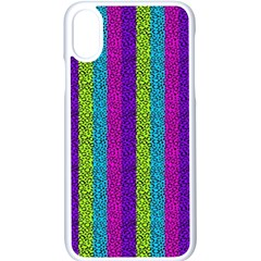 Glitter Strips Iphone X Seamless Case (white)