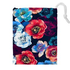 Flowers Pattern Drawstring Pouch (3xl)