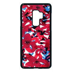 Handpaint Flowers Samsung Galaxy S9 Plus Seamless Case(black)