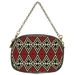 Motif Boho Style Geometric Chain Purse (two Sides) by tmsartbazaar