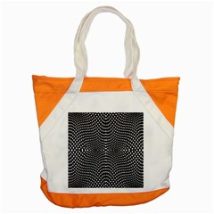 Black And White Geometric Kinetic Pattern Accent Tote Bag by dflcprintsclothing