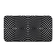 Black And White Geometric Kinetic Pattern Medium Bar Mats by dflcprintsclothing