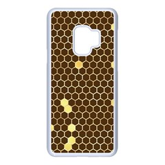 Gold Honeycomb On Brown Samsung Galaxy S9 Seamless Case(white)