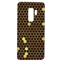 Gold Honeycomb On Brown Samsung Galaxy S9 Plus Tpu Uv Case
