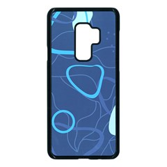 Abstract Blue Pattern Design Samsung Galaxy S9 Plus Seamless Case(black)