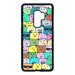 Colorful Cat Lover  Samsung Galaxy S9 Plus Seamless Case(black)