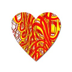 Fire On The Sun Heart Magnet by ScottFreeArt