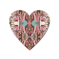 Paola De Giovanni- Marbling Art Viii Heart Magnet by meanmagentaphotography