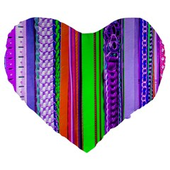 Fashion Belts Large 19  Premium Heart Shape Cushions by essentialimage