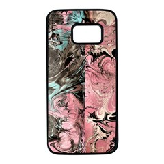 Marbling Collage Samsung Galaxy S7 Black Seamless Case