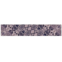 Violet Textured Mosaic Ornate Print Large Flano Scarf  by dflcprintsclothing
