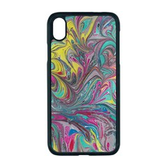 Abstract Marbling Swirls Iphone Xr Seamless Case (black)