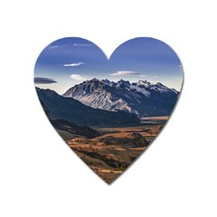 Mountain Patagonian Landscape, Santa Cruz, Argentina Heart Magnet by dflcprintsclothing