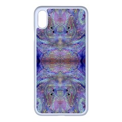 Amethyst Marbling Iphone Xs Max Seamless Case (white)