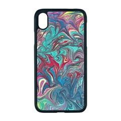Psychedelic Marbling Patterns Iv Iphone Xr Seamless Case (black)