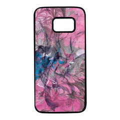 Brush Strokes On Marbling Patterns Samsung Galaxy S7 Black Seamless Case